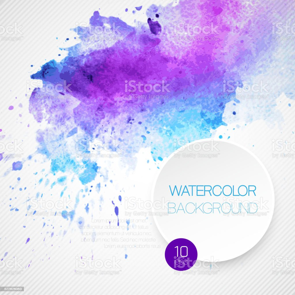 Watercolor background. Vector illustration vector art illustration