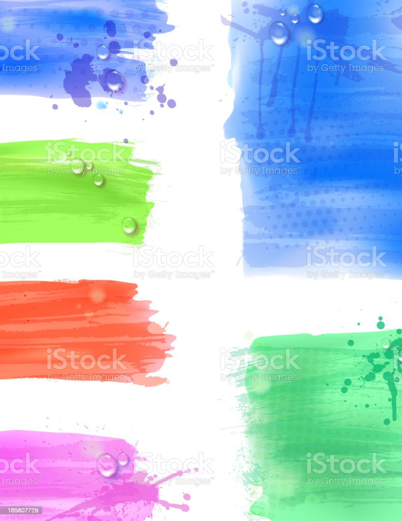 Watercolor backgrounds royalty-free stock vector art