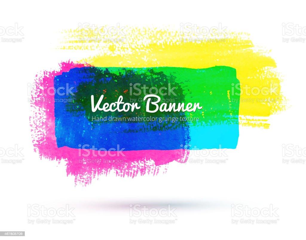 Watercolor banner. vector art illustration