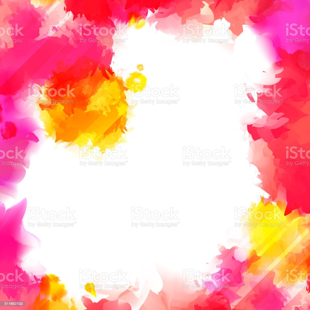 Watercolor Banner with Place for Your Text vector art illustration