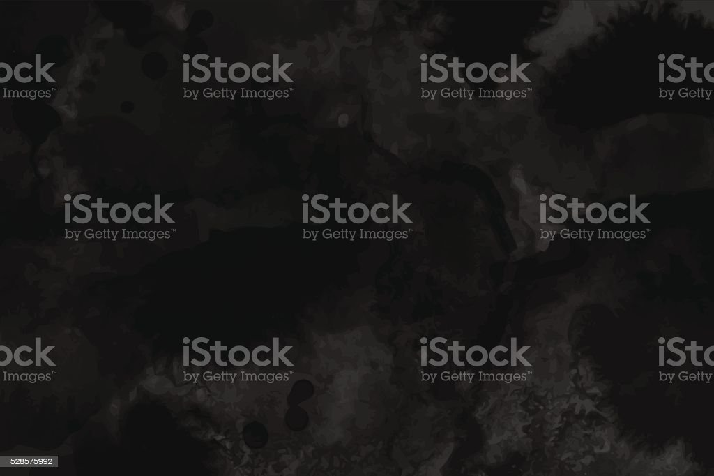 Watercolor black texture and background vector art illustration