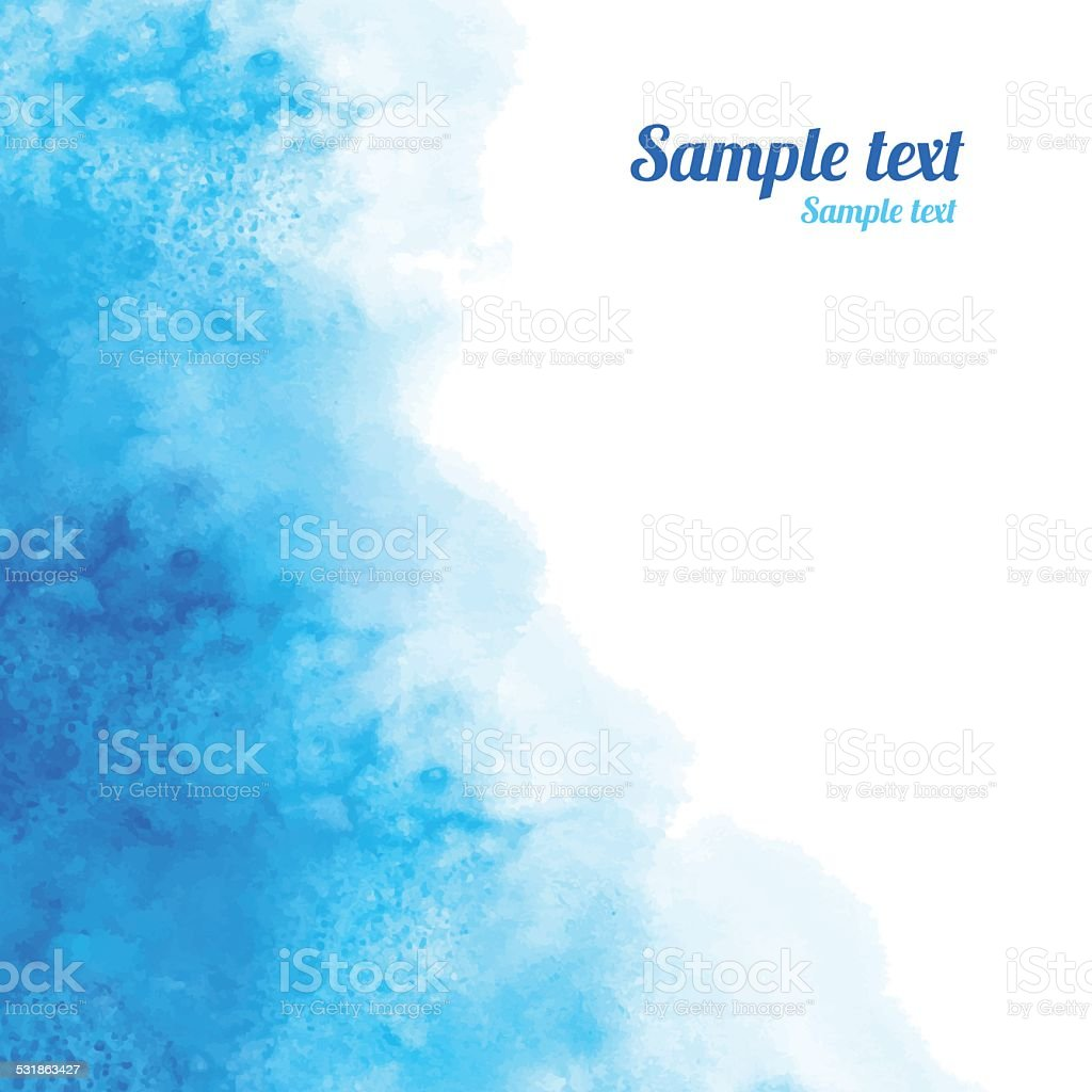 Watercolor blue angle background texture vector art illustration