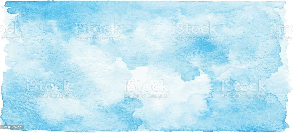 Watercolor Blue Banner vector art illustration