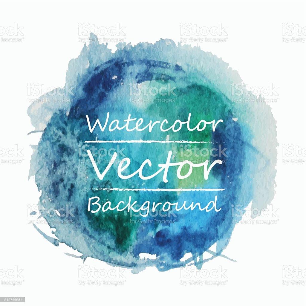 Watercolor Circle vector art illustration