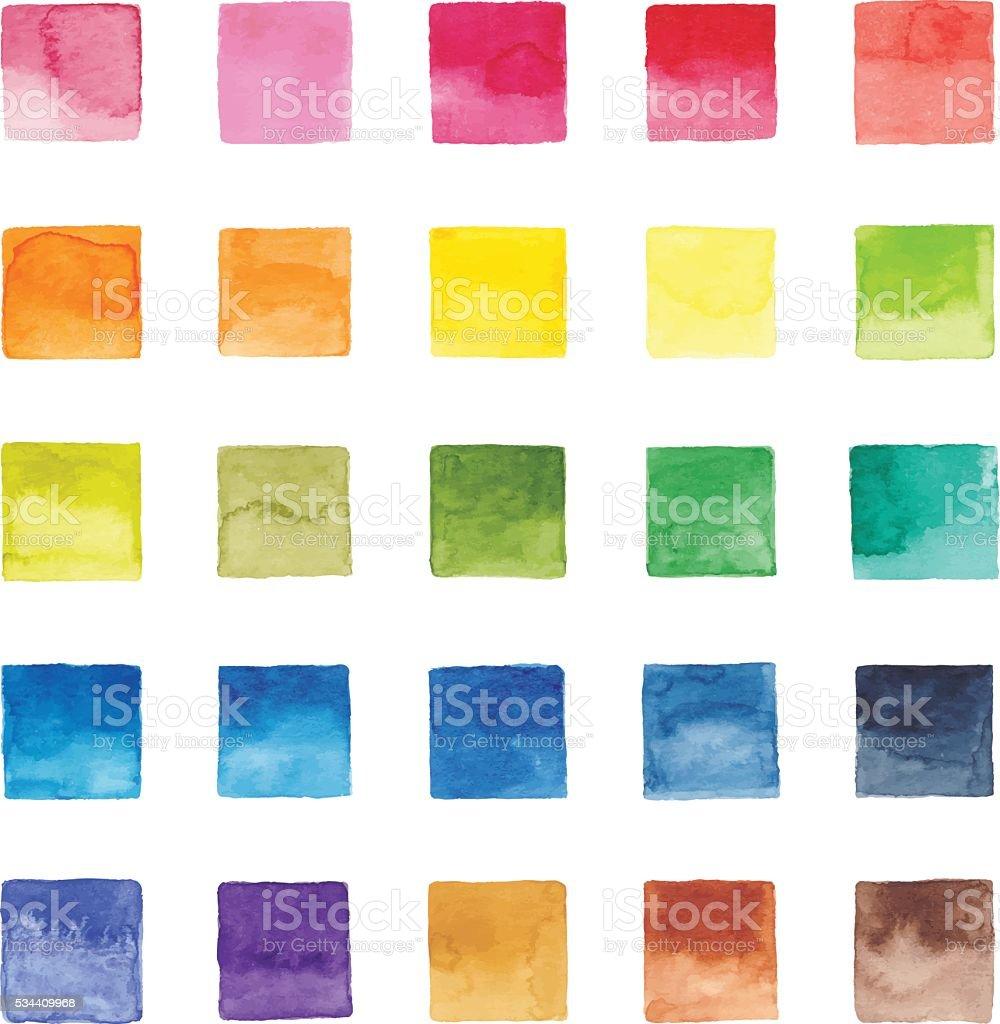 Watercolor Color Chart vector art illustration