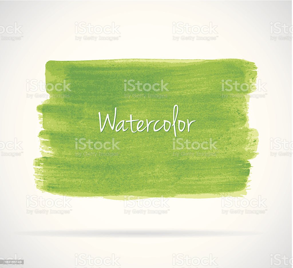 Watercolor design vector art illustration