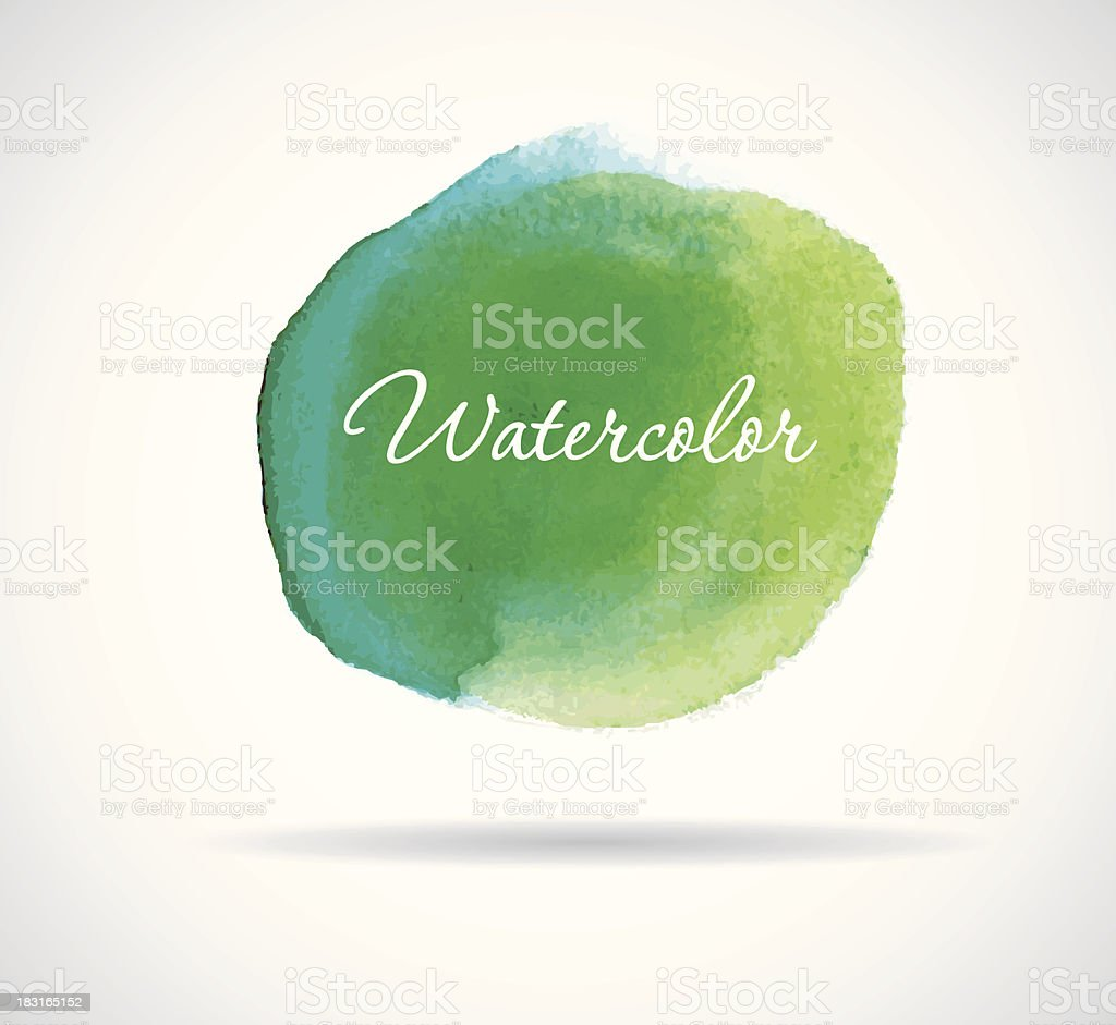 Watercolor design royalty-free stock vector art