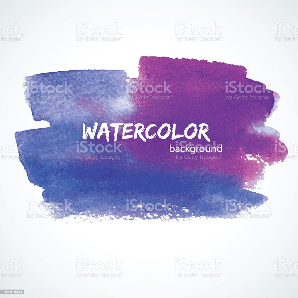 Watercolor design royalty-free stock vector art