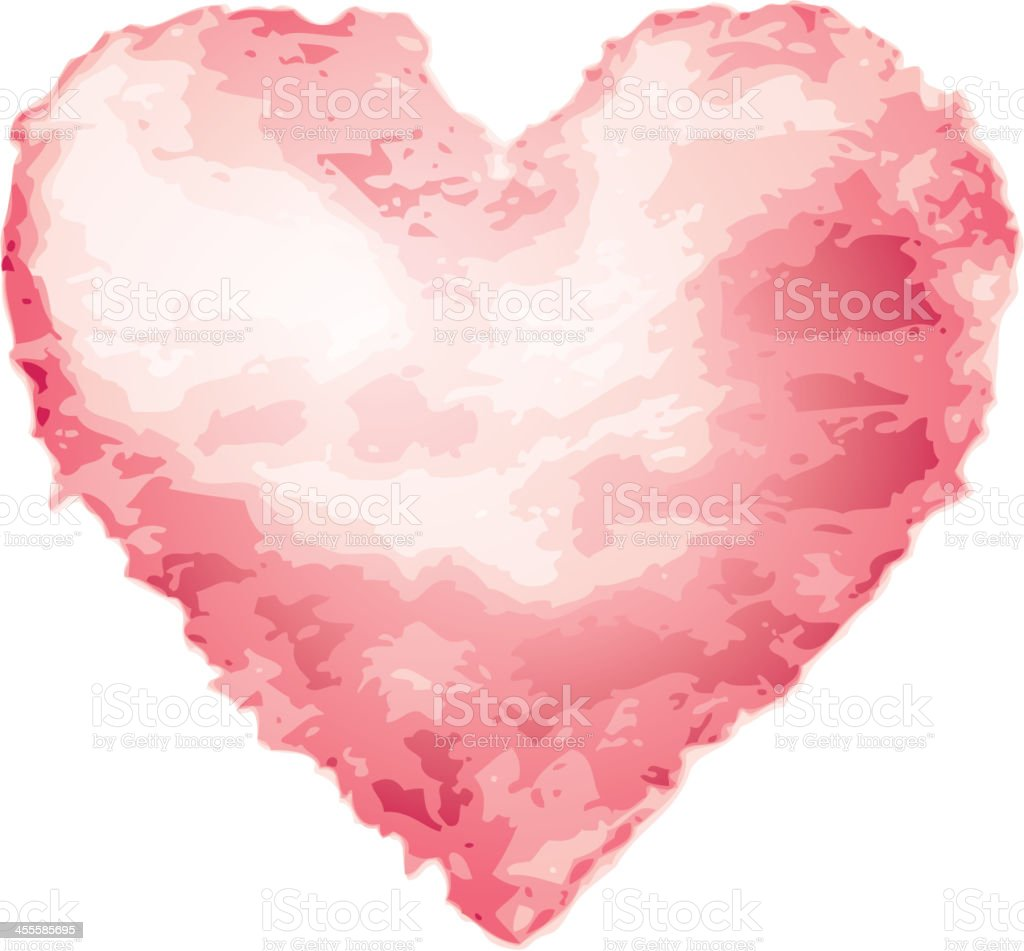 Watercolor Heart royalty-free stock vector art