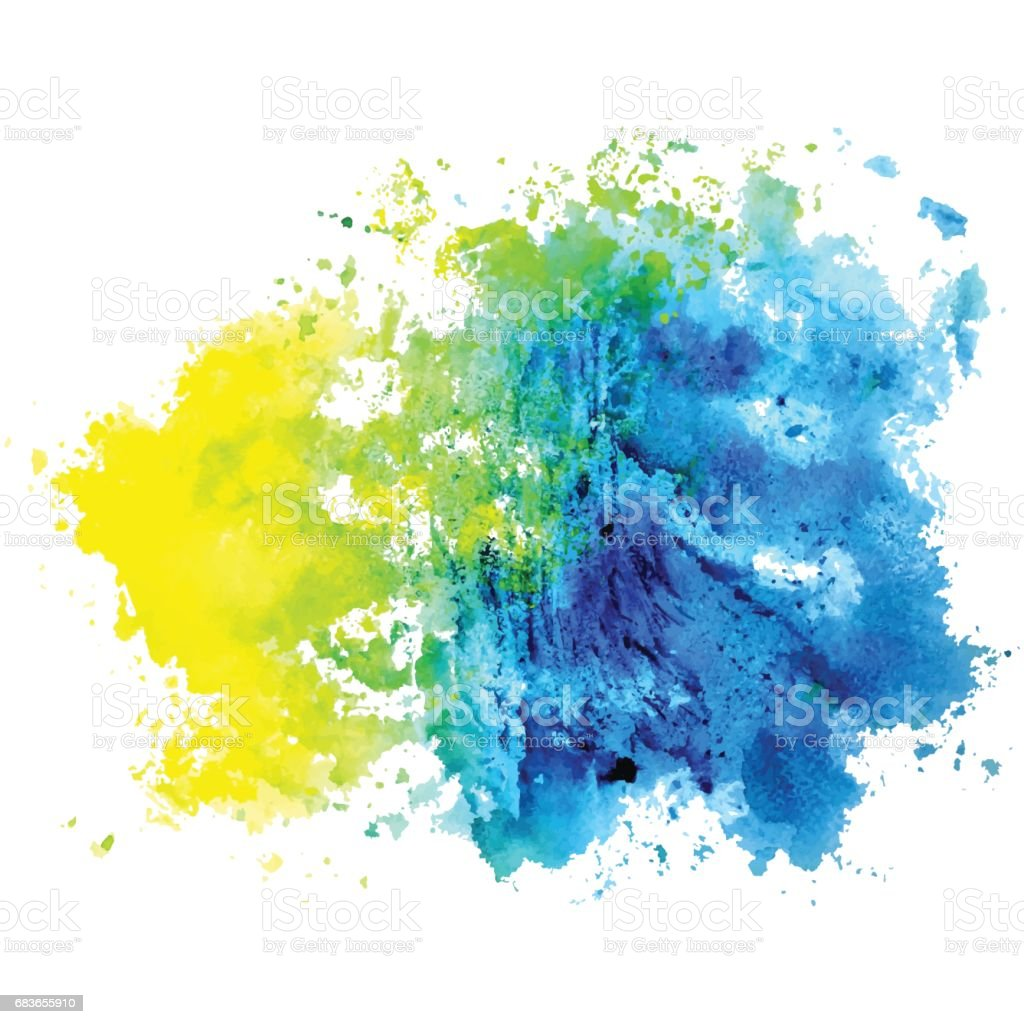 Watercolor isolated spot on a white background. vector art illustration