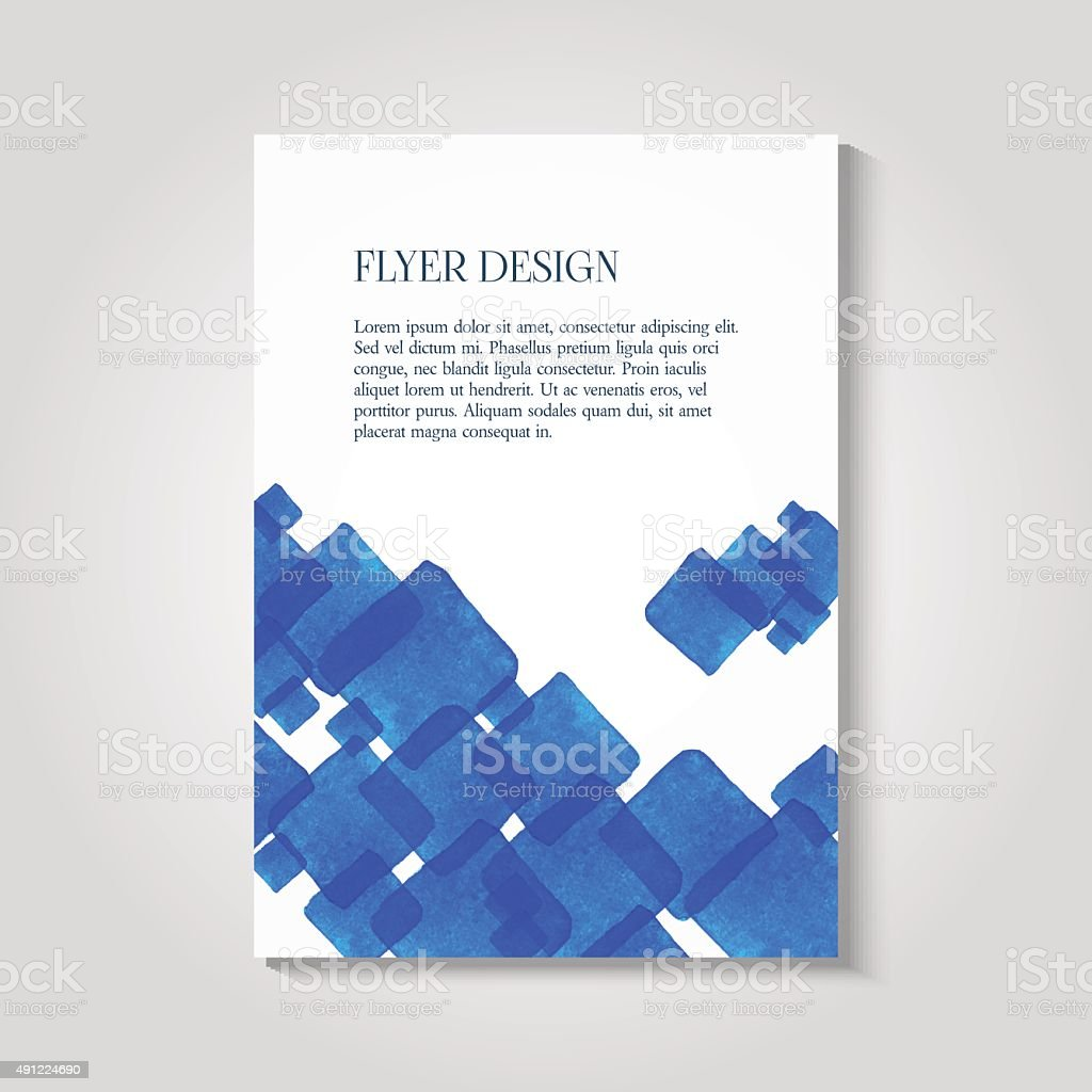 watercolor painted background design business corporate brochure 1 credit