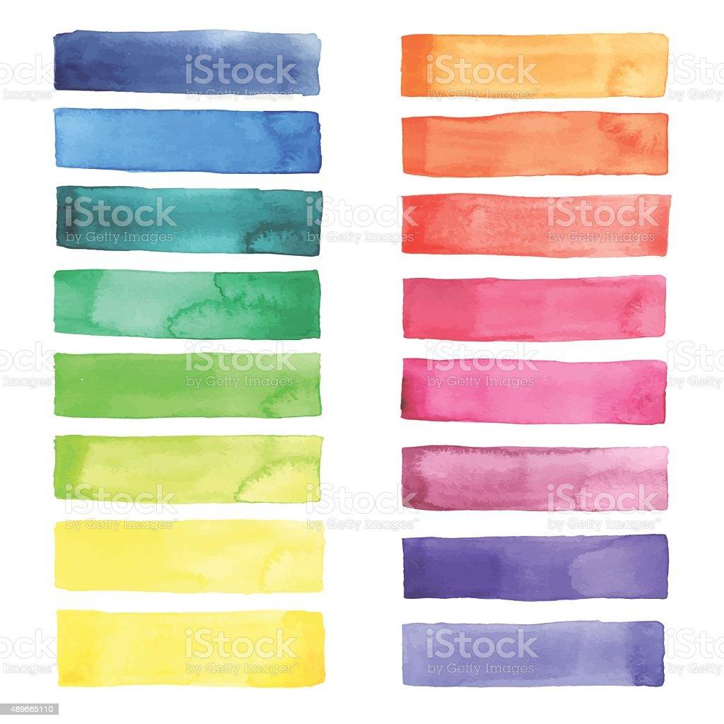 Watercolor pallet vector art illustration