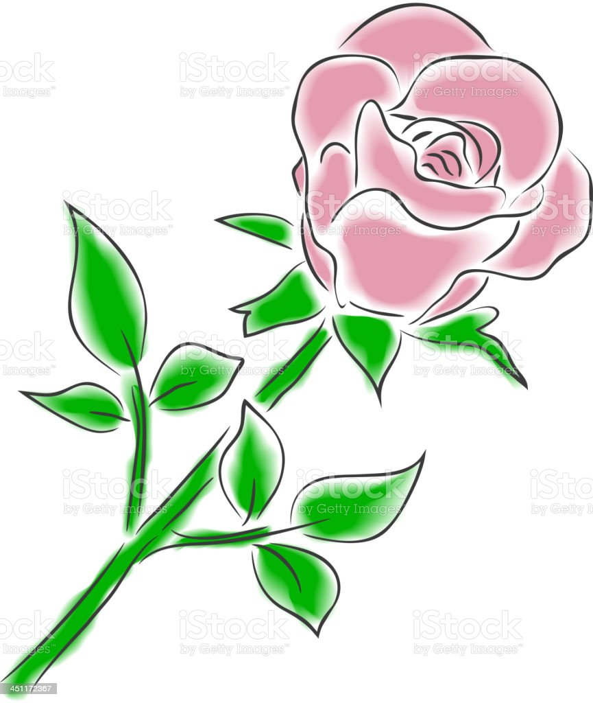 watercolor rose royalty-free stock vector art
