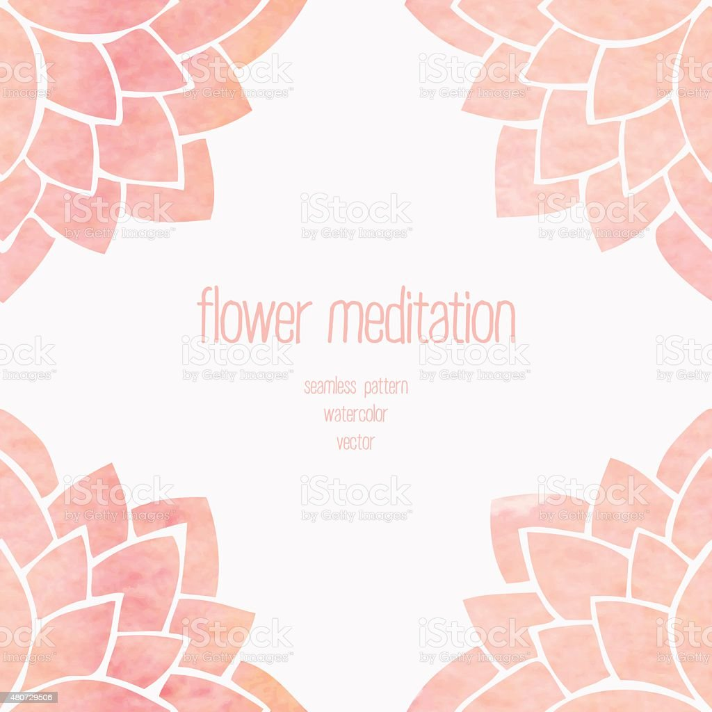 Watercolor seamless floral background vector art illustration