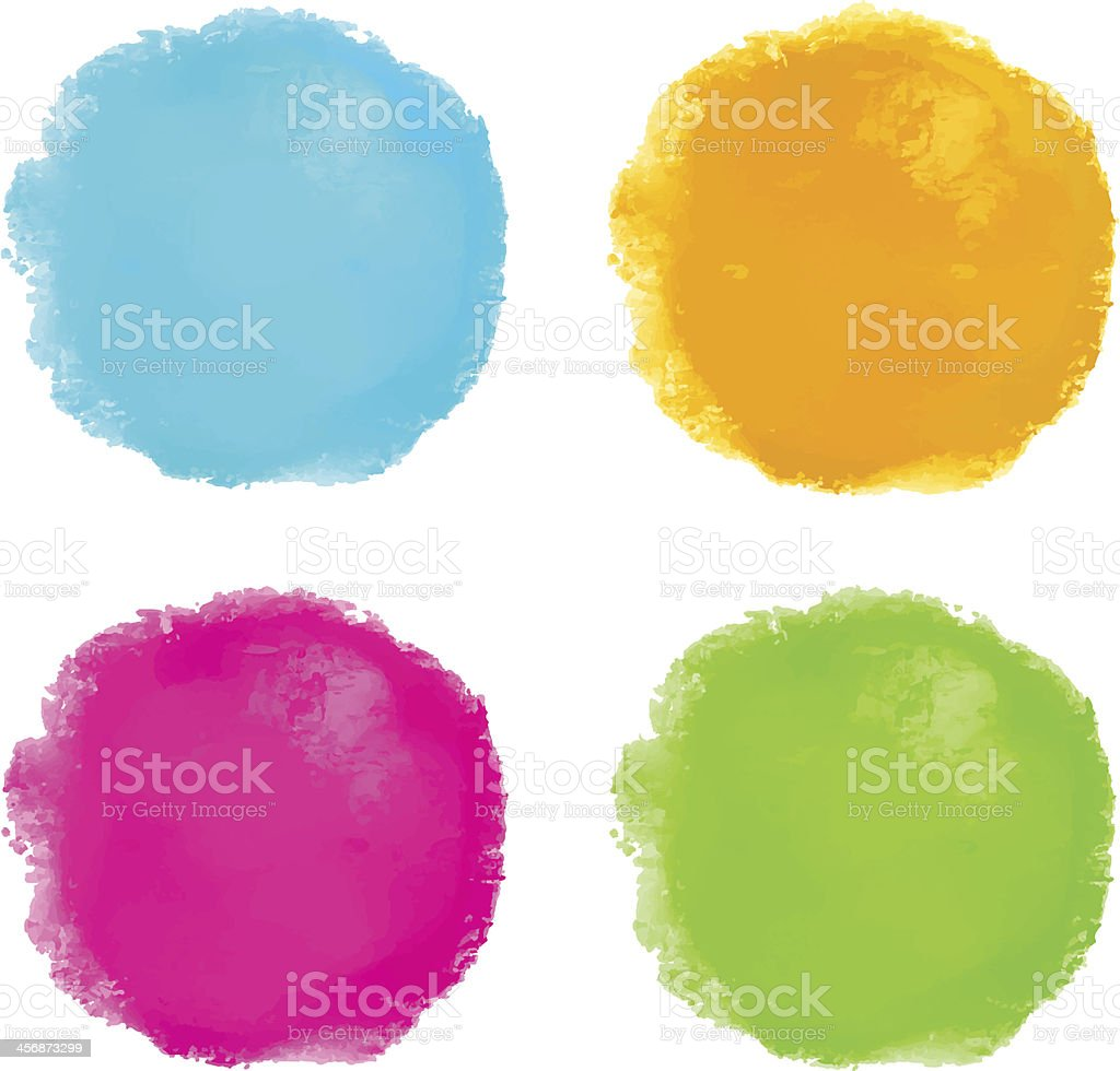 Watercolor set spots isolated royalty-free stock vector art