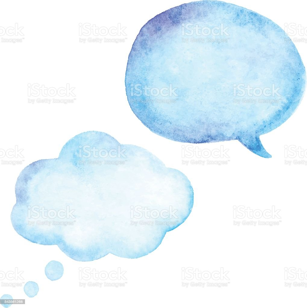 Watercolor Speech Bubble vector art illustration