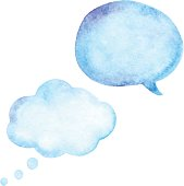 Watercolor Speech Bubble