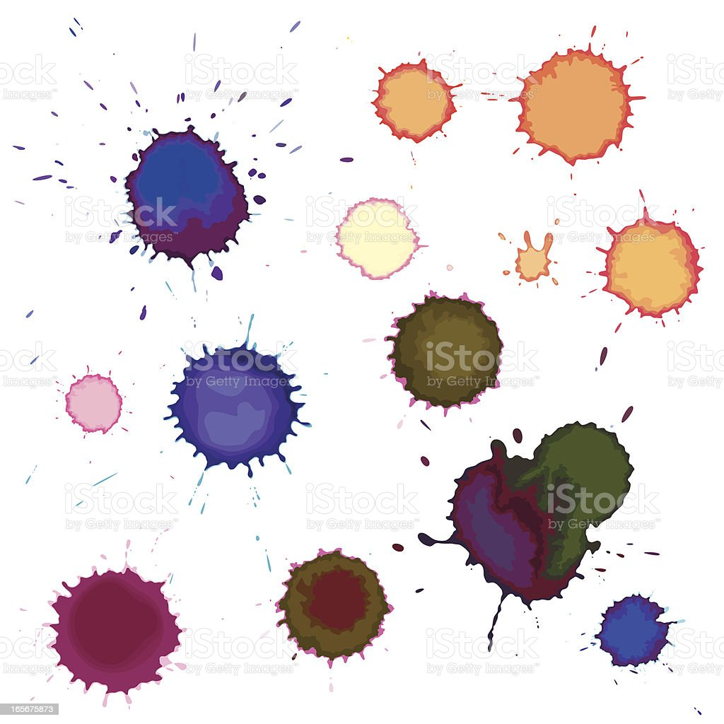 Watercolor splats royalty-free stock vector art