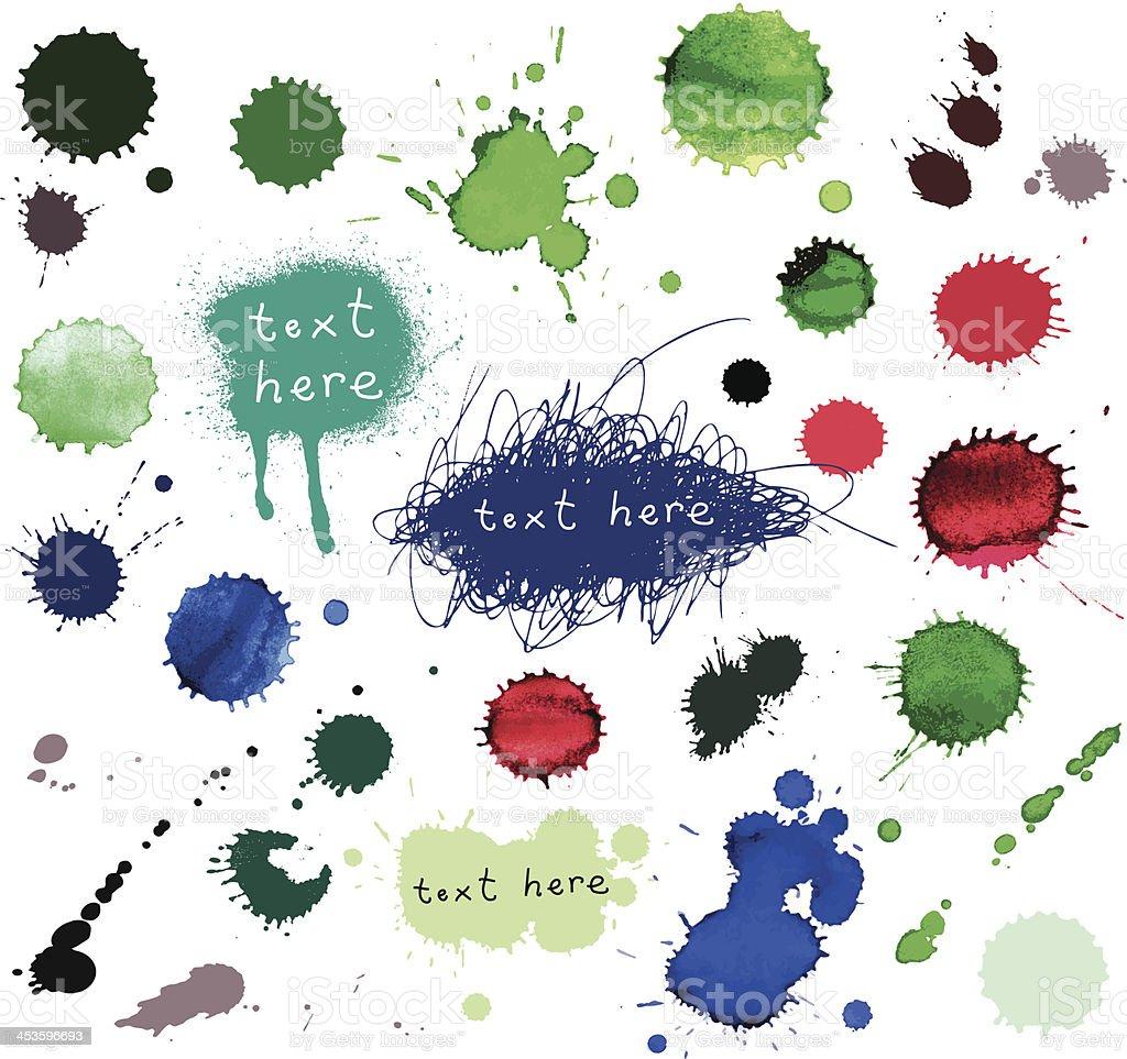 Watercolor splatter. vector art illustration