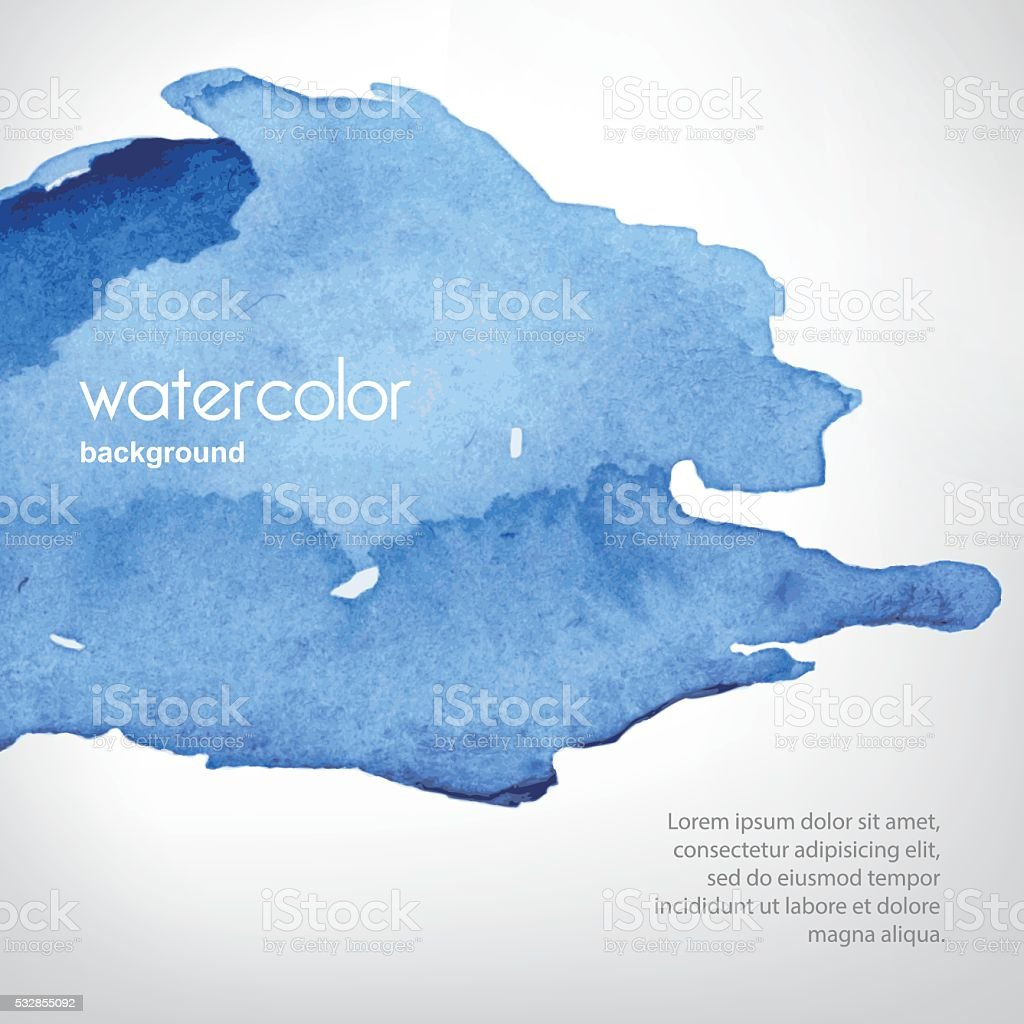 Watercolor stain in vector vector art illustration