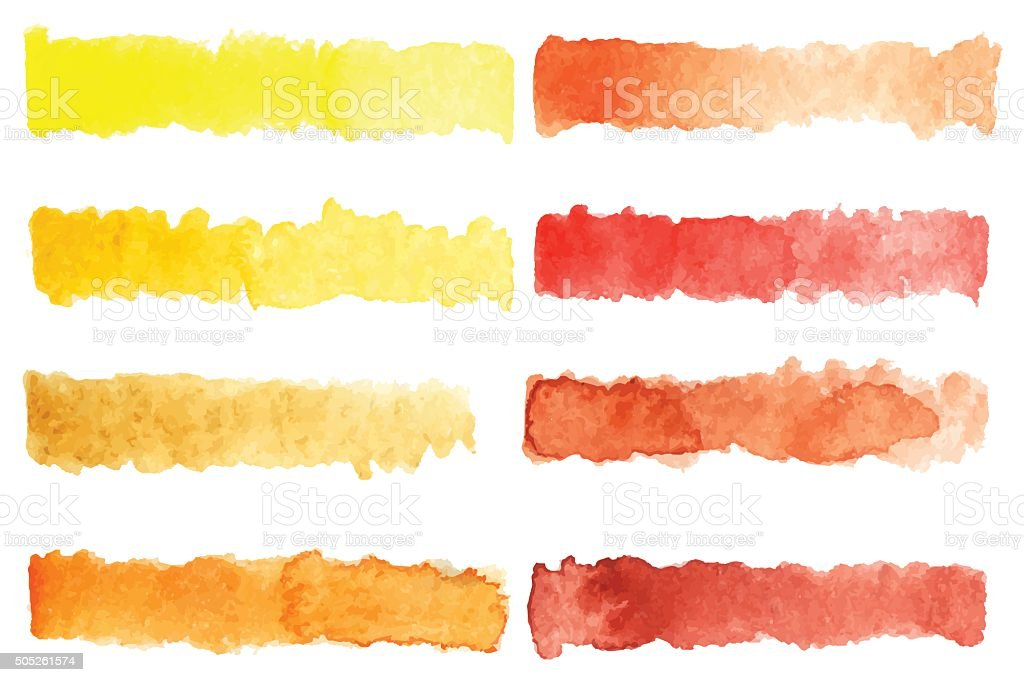 Watercolor stripe brush colorful rainbow palette vector background vector art illustration