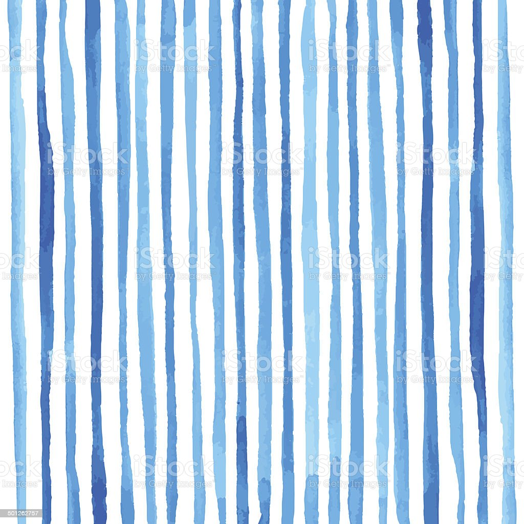 Watercolor stripes pattern vector art illustration