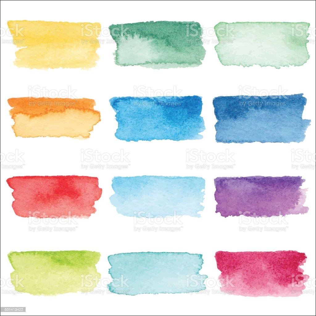 Watercolor Stroke vector art illustration