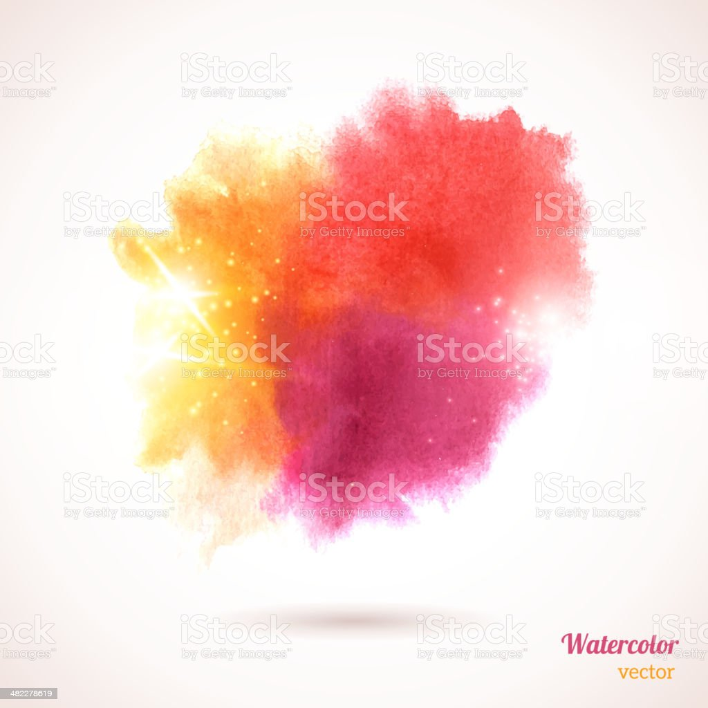 Watercolor texture. vector art illustration