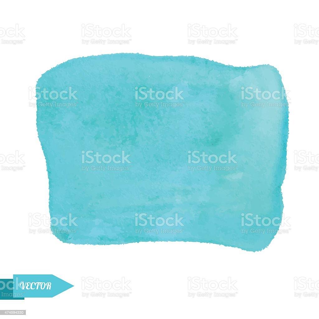 acuarela manchas de pintura de color azul turquesa aislado sobre fondo blanco libre de