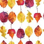 watercolor vector autumn pattern