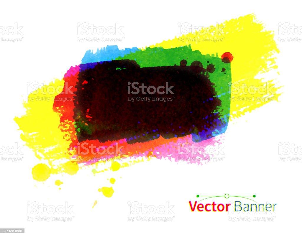 Watercolor vector banner. vector art illustration