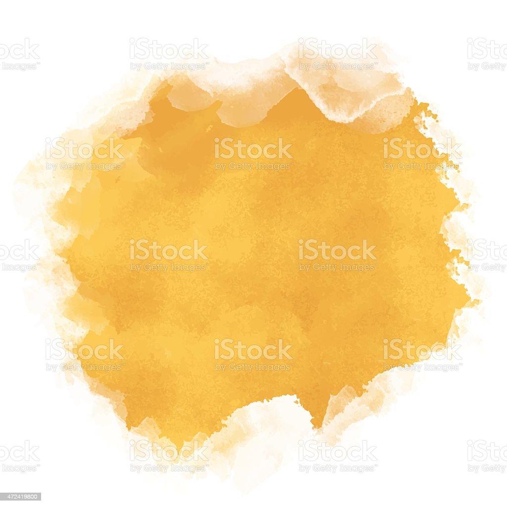 Watercolor yellow sand rough spot vector art illustration