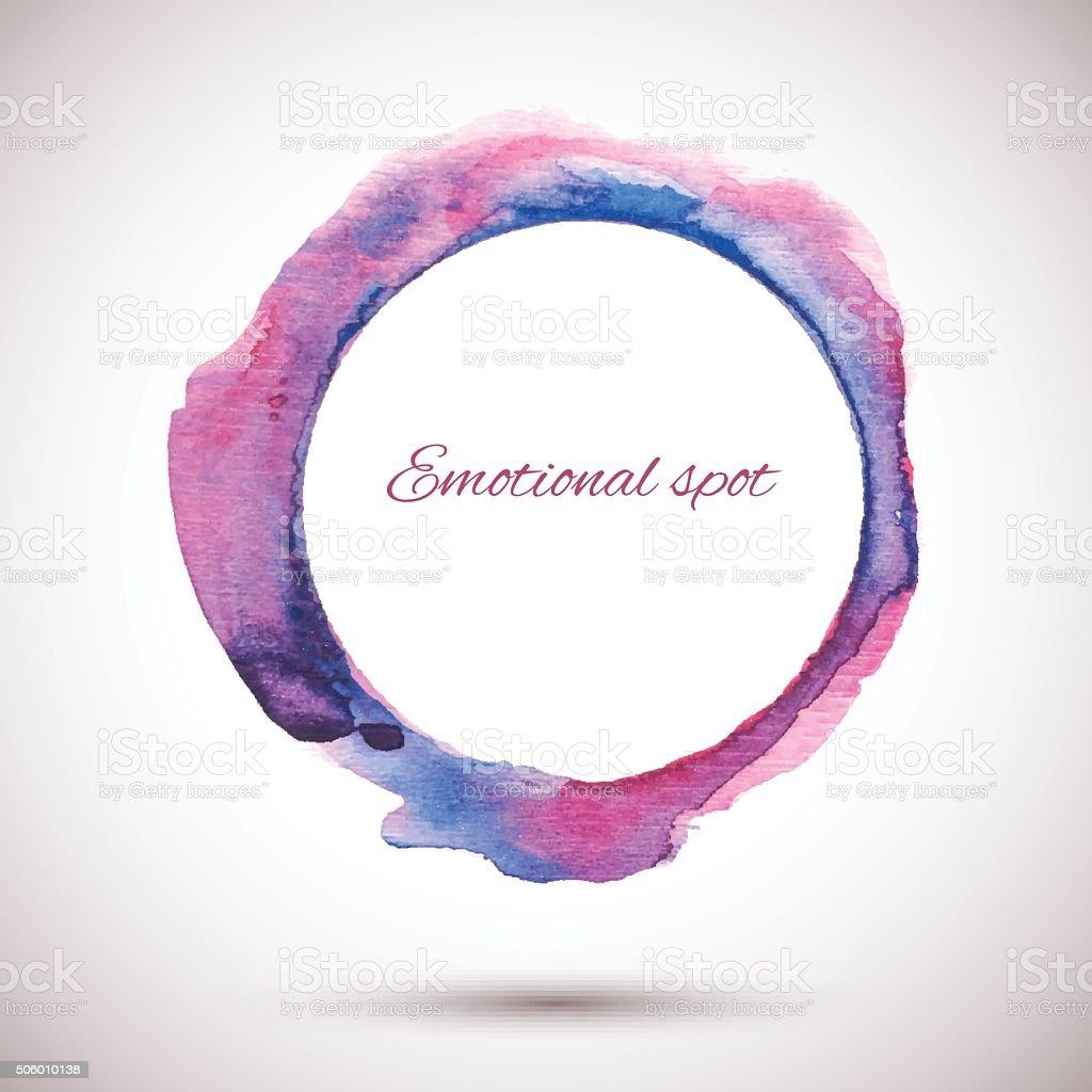 Watercolor-Ring-Violet-Pink vector art illustration