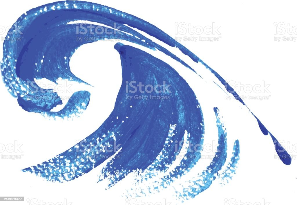 watercolors wave vector art illustration