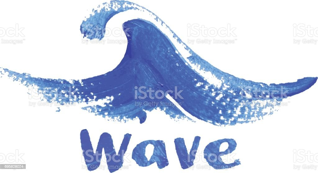 watercolors wave vector art illustration