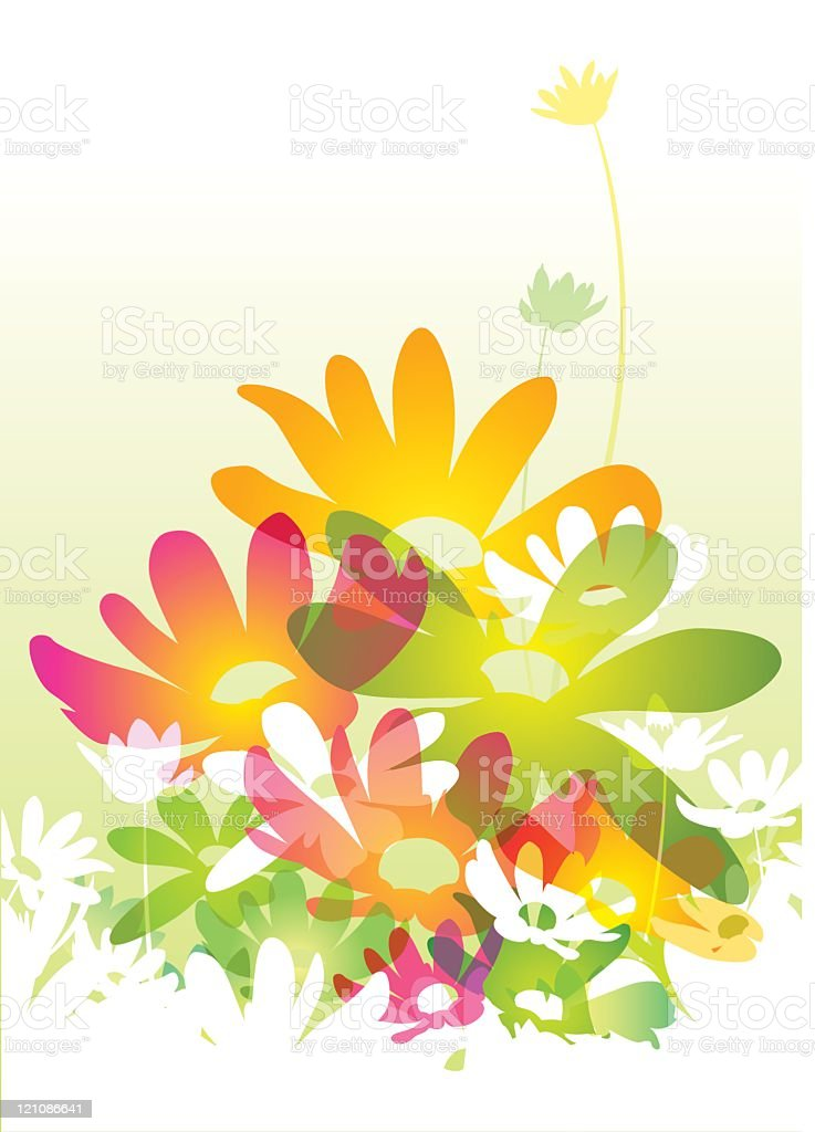 Watercolour flowers royalty-free stock vector art