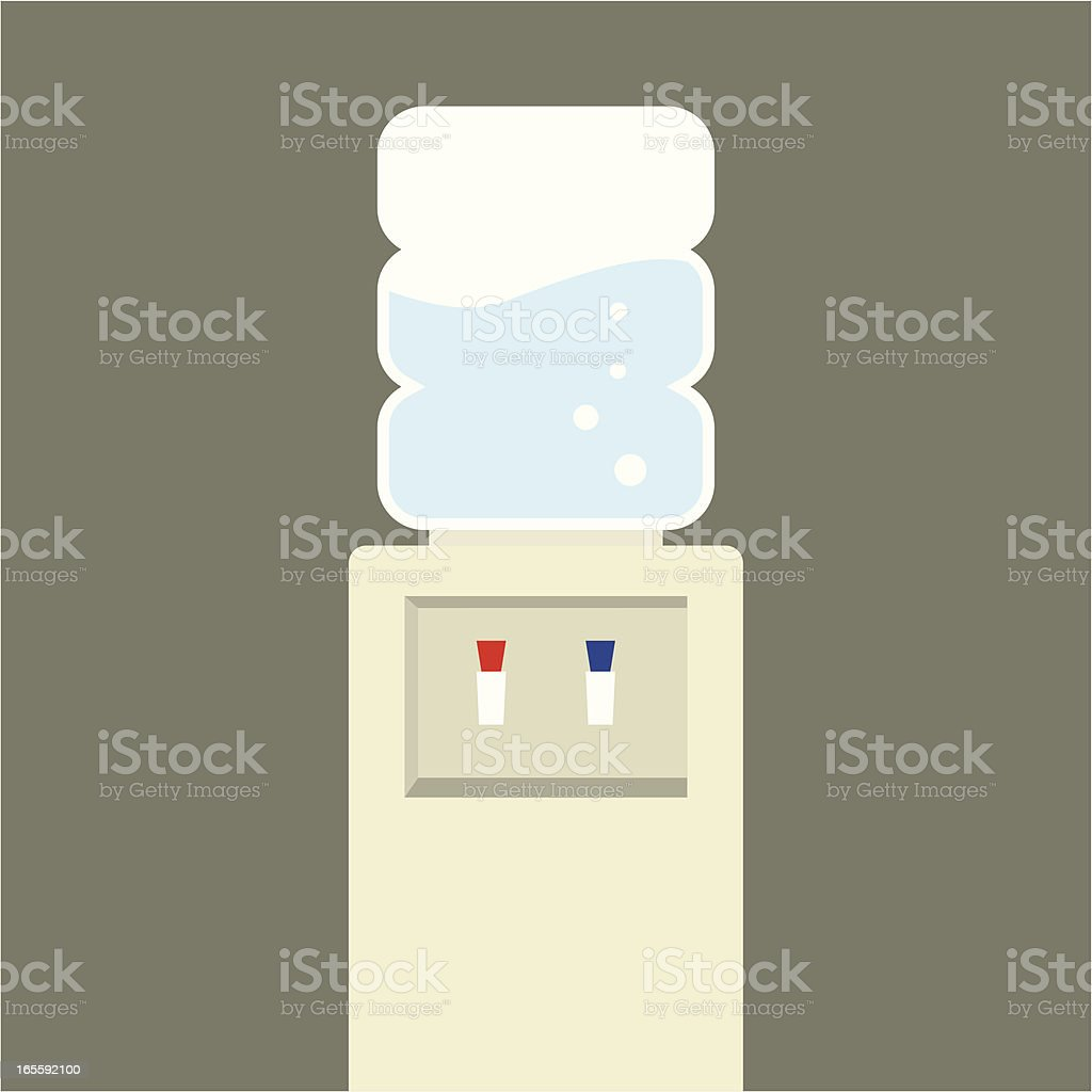 watercooler vector art illustration