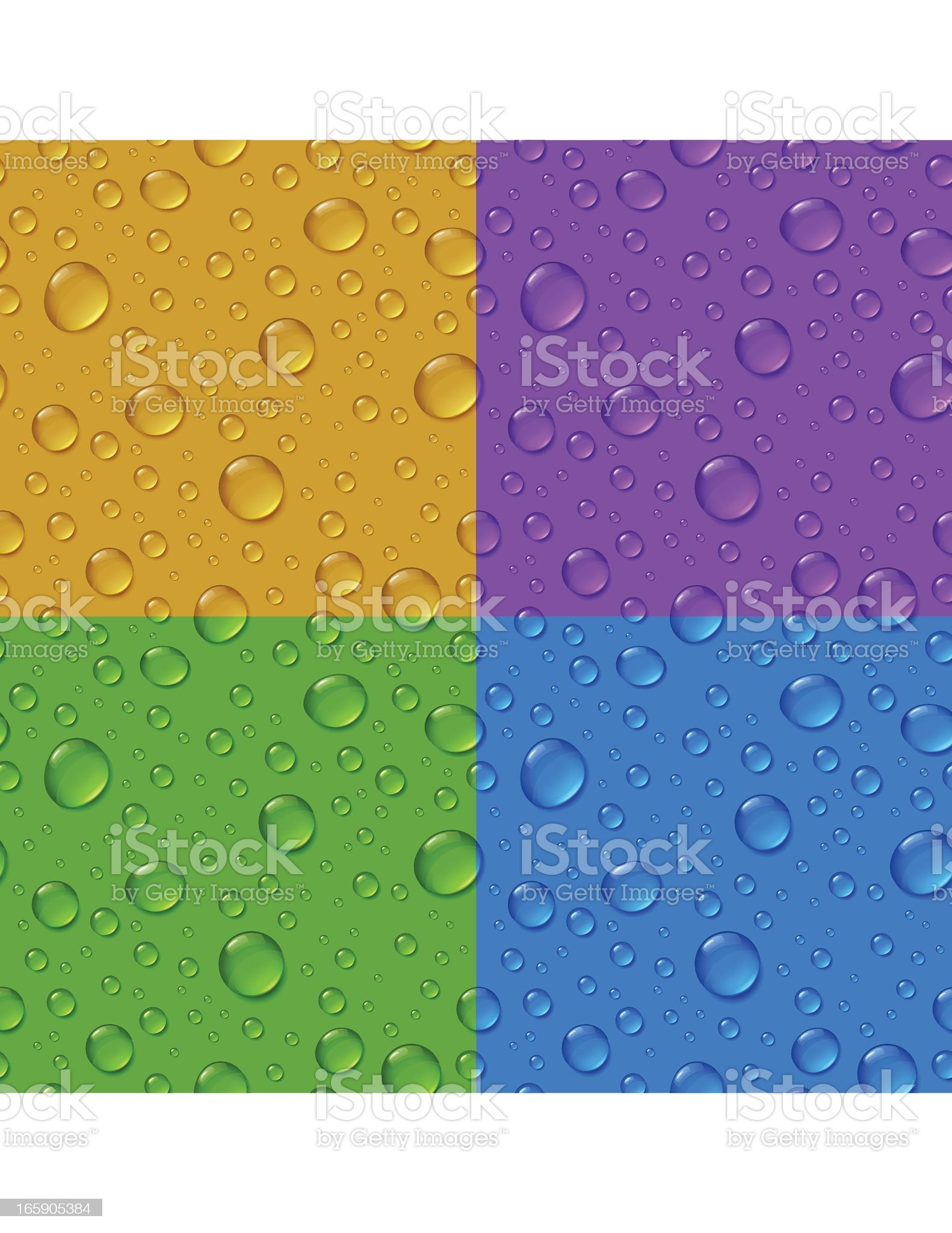 Waterdrops Seamless Pattern royalty-free stock vector art