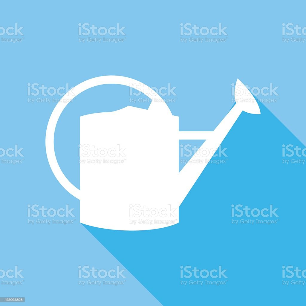 Watering Can Icon vector art illustration
