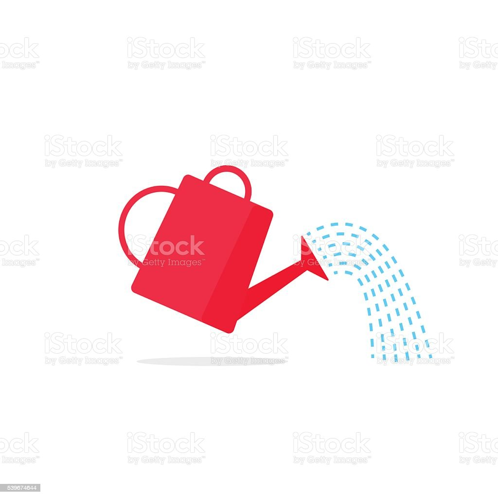 Watering can icon vector vector art illustration