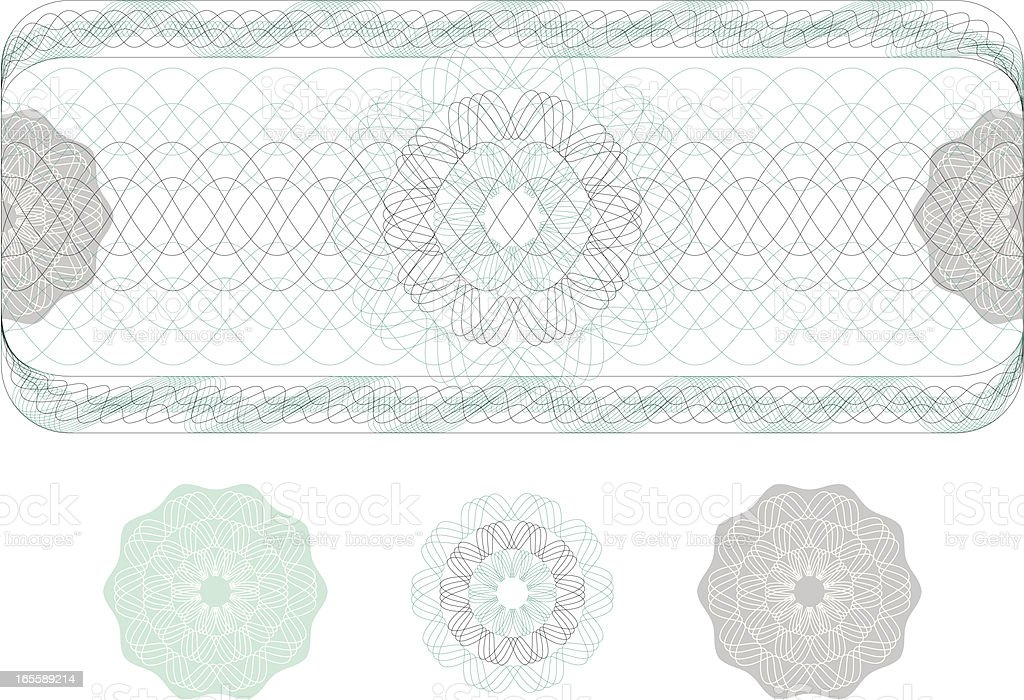 Watermark from Ticket, Diploma or Certificate royalty-free stock vector art