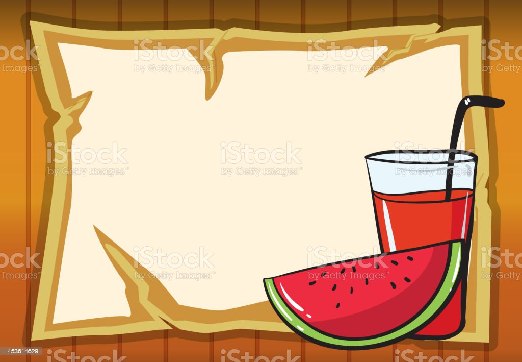 watermelon and juice royalty-free stock vector art