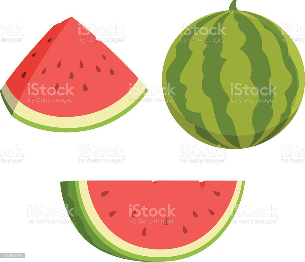 Watermelon Cartoon vector art illustration