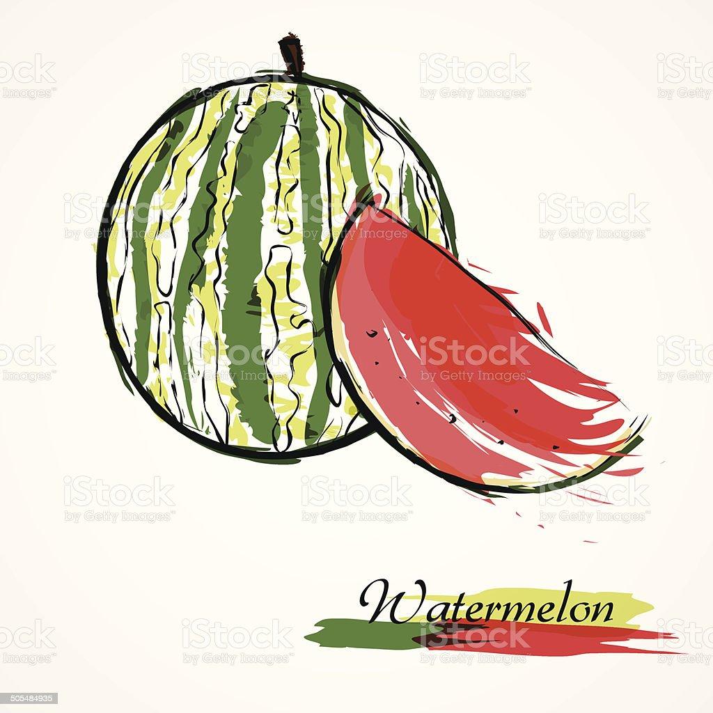 Watermelon fruit slice royalty-free stock vector art