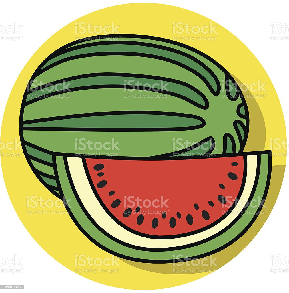 watermelon icon royalty-free stock vector art