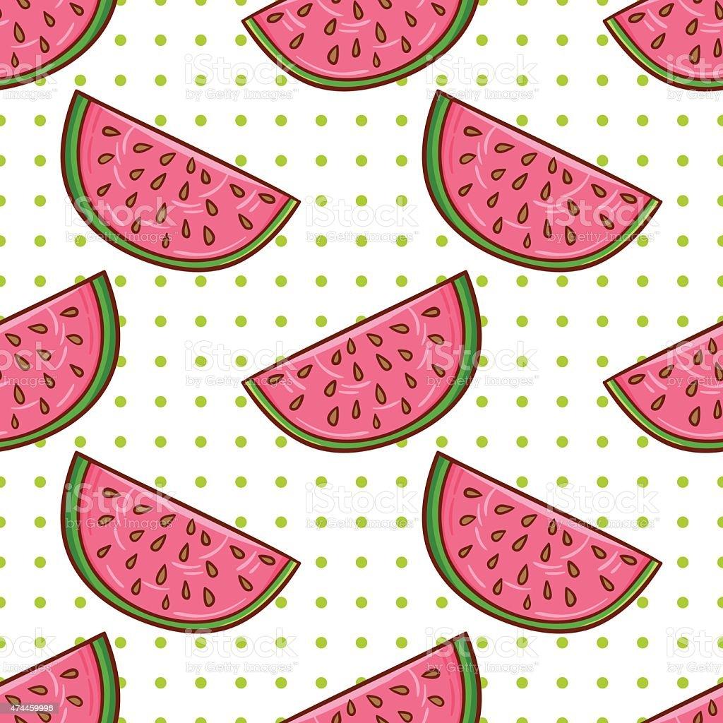 Watermelon pattern vector art illustration