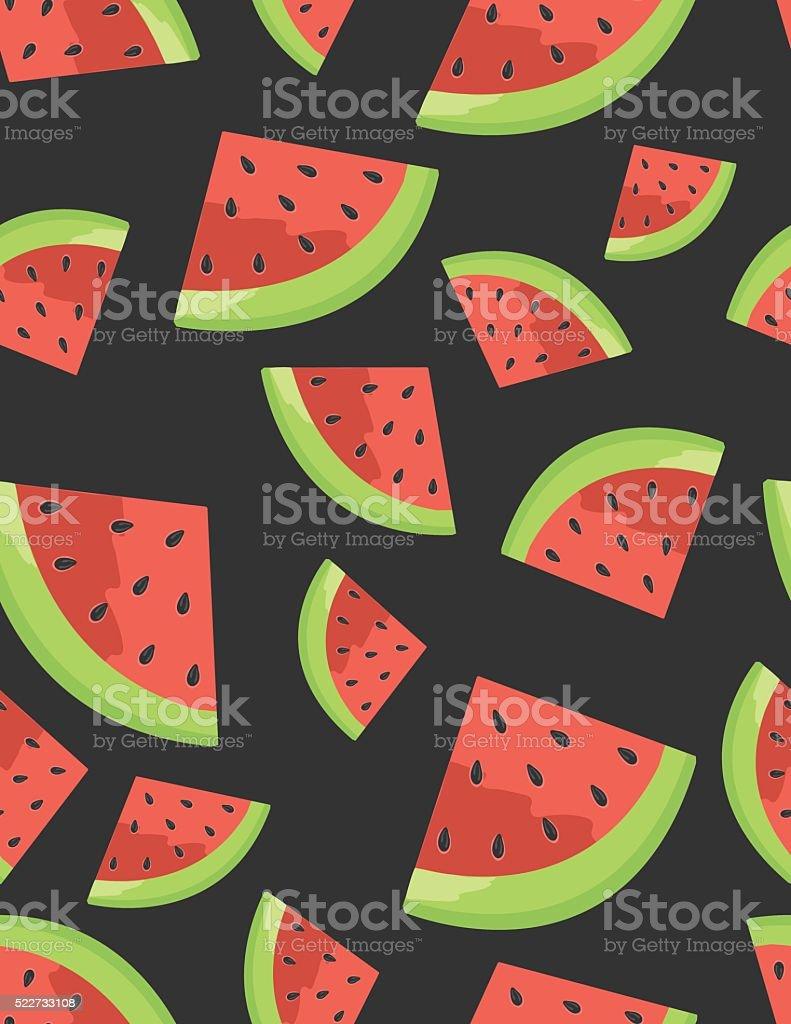 Watermelon Seamless Background pattern vector art illustration