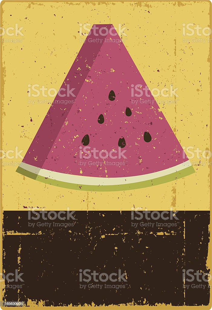 Watermelon Sign royalty-free stock vector art