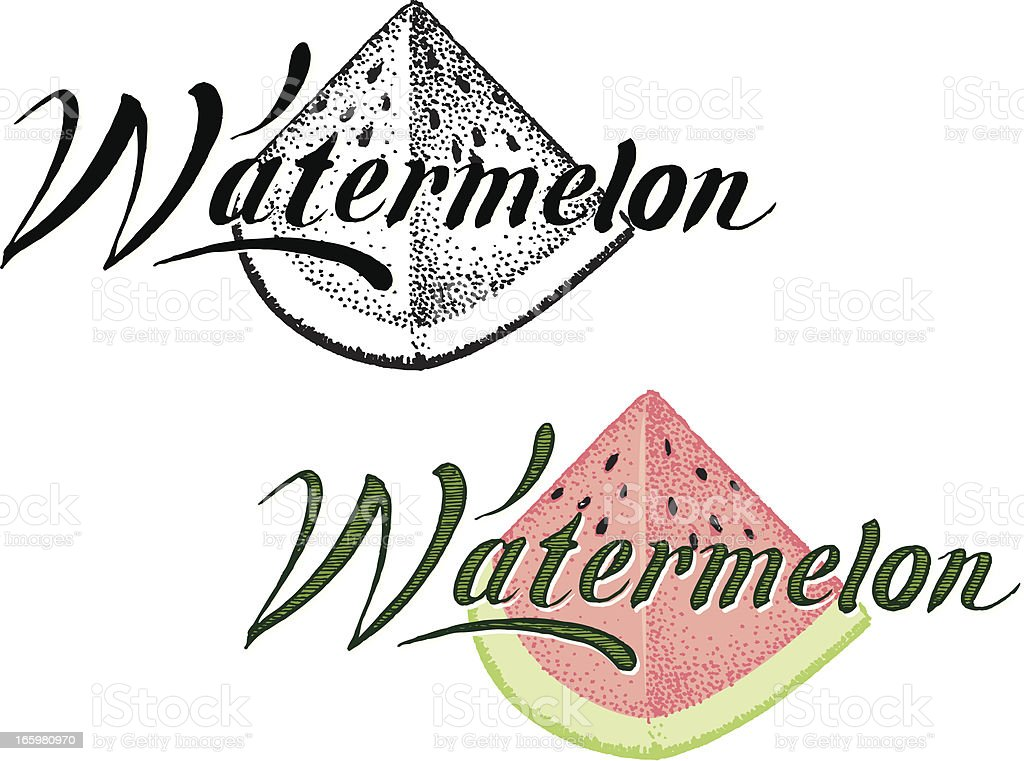Watermelon Slice - Summer Fruit with Text royalty-free stock vector art