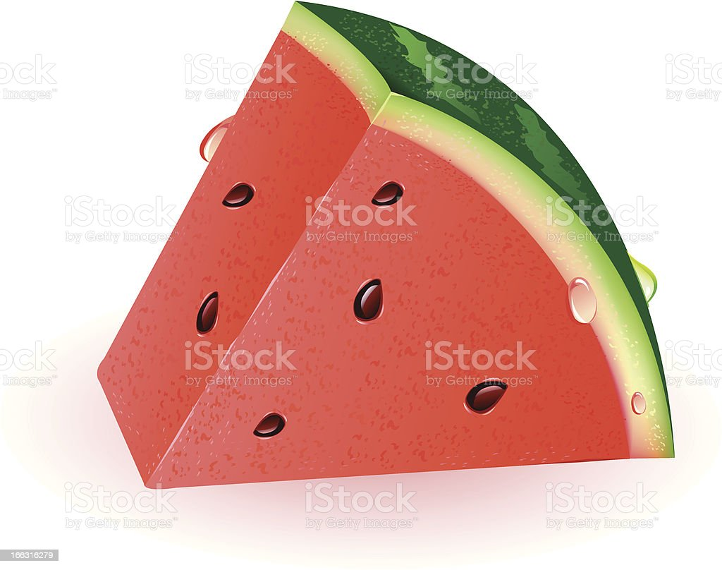 Watermelon Slice royalty-free stock vector art